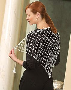 Quick Gift Crochet Pattern of the Month - April Crochet! Fashion Shawl
