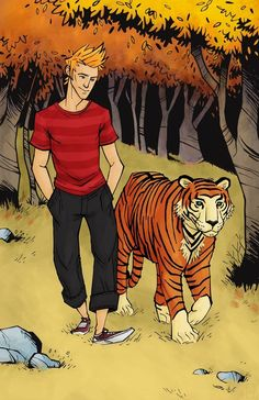 Calvin and Hobbes! LOVE THIS!