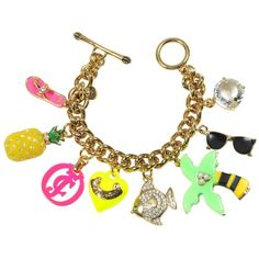Juicy Couture B-Charm Bracelet ($128) ❤ liked on Polyvore