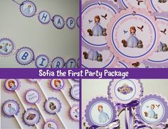 Sofia the First Birthday Party Package by WittyWiseOwl on Etsy, $37.50