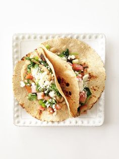 Spinach & White Bean Tacos   KitchenDaily.com