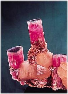 "The ""Candelabra"" Tourmaline  This stunning specimen was mined by Pala at the Tourmaline Queen mine in 1972. Today it is on public display at the Smithsonian Institution in Washington, DC.  (Photo: Harold & Erica Van Pelt).  http://www.palagems.com/mining.htm"