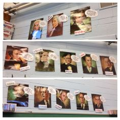 Composer quotes ... Classroom decor....can do this with posters of famous people, like a twitter wall