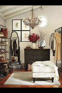 Transform a small bedroom into a fabulous walk-in closet ... looks like this might be the only option, still a great idea!