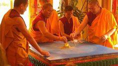 Tibetan Monks dissolve a mandala in Mt. Shasta, CA