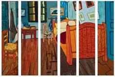 sliced Van Gogh's bedroom