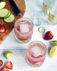 Summer Sippin' Strawberry Cucumber Gin & Tonic