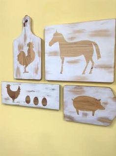 makes rustic wooden cutting boards for all your decorating needs