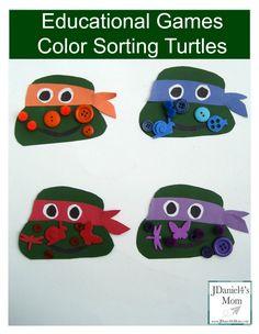 Educational Games- Color Sorting Turtles