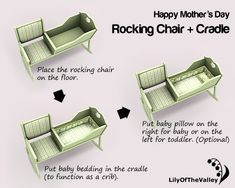 Rocking Chair Cradle Combo Plans Plans DIY Free Download Build Bar Counter Fr