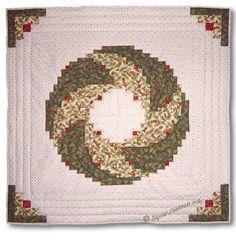 Burda 10/93.  Christmas Wreath Quilt