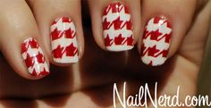 Red hounds tooth!