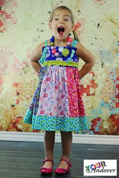 Congratulations to Shannon of Create Kids Couture, this week's winner of the Your Andover contest! She made this adorable dress using our Owls collection by Makower UK.