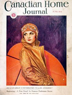 1931 CDN Home Journal Cover - Female Pilot #008117