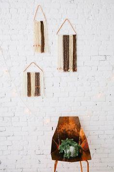 / diy textured wall hanging