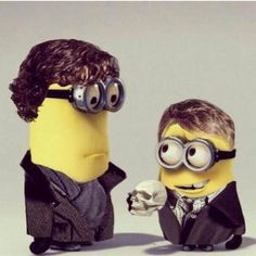 Sherlock & his minion  This is what happens when we have too much time on our hands!  Bring on Season 3!