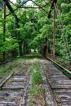 Mother Nature reclaims an Abandoned Rail Bridge, Avant, Oklahoma