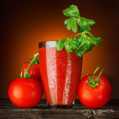 Kick-Start Juice - Here's a spicy juice to kick start your day!  This juice is packed with life enhancing superfood antioxidants…so drink up. Recipe makes 2 servings, 82 calories per serving.  @Taylor Townsend another tomato based juice...