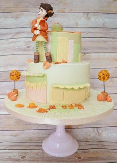 Autumn in New York - Cake by Roo's Little Cake Parlour