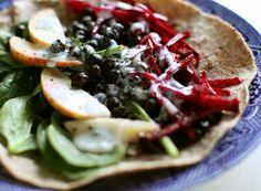 Black Chickpea Wrap with Tarragon Yogurt, Wholeliving.com