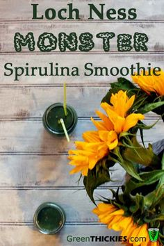 Loch Ness Monster Spirulina Smoothie and Health Benefits of Spirulina