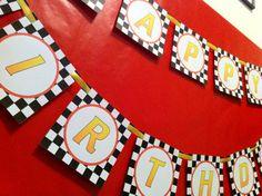 Cars 2 Birthday Banner