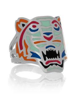 bling, kenzo ring, enamel silver, accessori, tigers, fashion fun, jewelri, silver rings, kenzo tiger