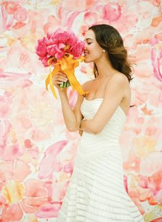 blooming backdrop | KT Merry and Momental Designs via Southern Weddings