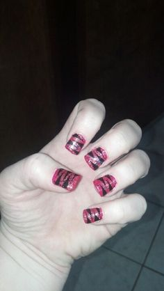 Love pink and black! Love my nails! Those are epic nails..awesome work.