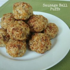 Sausage Ball Puffs from www.ChocolateChoc...
