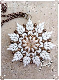 Video- Ciondolo Modigliani - Superduo / twind beads Pendent. #Seed #Bead #Tutorials