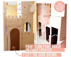 DIY- Cardboard Castle Tutorial....Cost: 4 bucks.