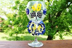 Jimmy Johnson 48 Signature Driver Racing Nascar Lowe's Sports Birthday Wedding Bridesmaid Gift Personalized Wine Glass. $22.99, via Etsy.