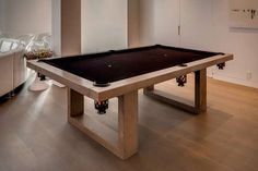 The James De Wulf Pool Table is Masculine and Industrial #mancave trendhunter.com