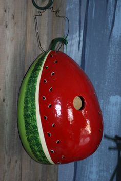 Watermelon Gourd Birdhouse