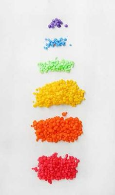 Make your own rainbow sprinkles!