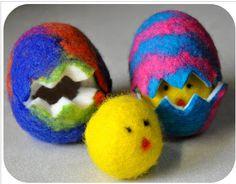 Wet Felted Easter Eggs ~ Tutorial