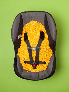 A rating you never see on car seats: Hides up to 400 goldfish.