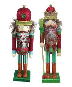 Look what I found on #zulily! Glitter King & Soldier Nutcracker Set #zulilyfinds