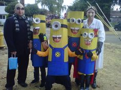 2012 Homecoming Parade costumes: Despicable Me!  Gru, Super Minions and Dr. Nefario