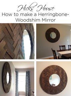 Herringbone Woodshim Mirror | Hicks House