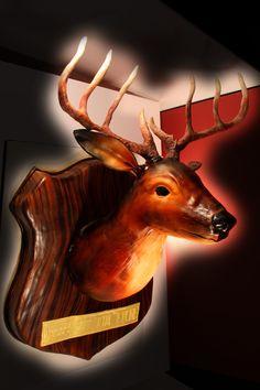 Buck Mount 50th Birthday Cake Marble Vanilla Buttercream Deer