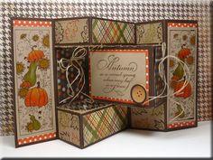 Autumn- Serendipity Blog Challenge blog challeng, trishutt card, fold card, favorit card, cardcraft inspir, fall card, scrap card