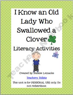 There Was an Old Lady Who Swallowed a Clover Literacy Activities