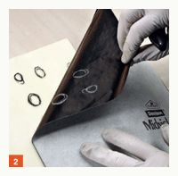 Draw on encaustic art w/carbon paper