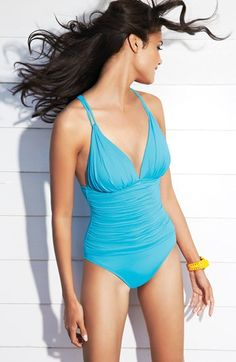 Ruched One-Piece Swimsuit http://rstyle.me/n/e2n8enyg6