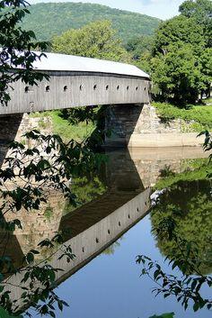 Cornish-Windsor Covered Bridge... Cornish, New Hampshire by Massjayhawk