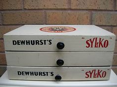 Vintage Dewhurst's Sylko Sewing Box of Drawers - Shop Counter Display in Cream