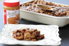 Biscoff Bread Pudding with Biscoff Caramel Pecan sauce