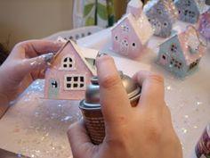 pink cupcake vintage: DIY: glitter houses